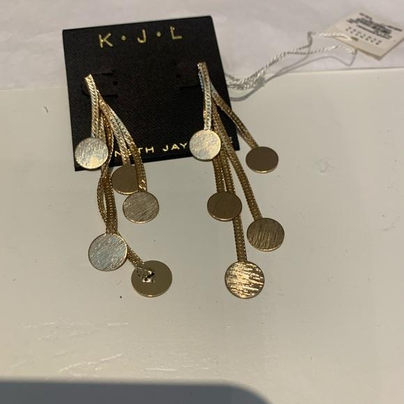 Kenneth Jay Lane Dangling Gold Earrings